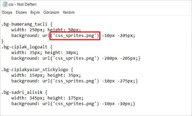 CSS Sprite kod