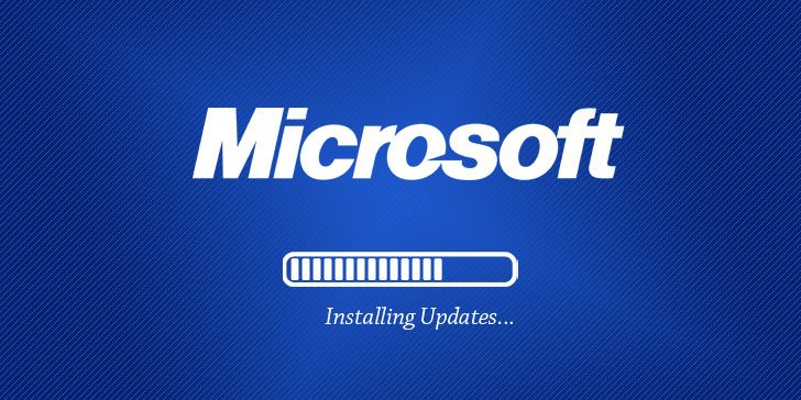 Microsoft software patch updates