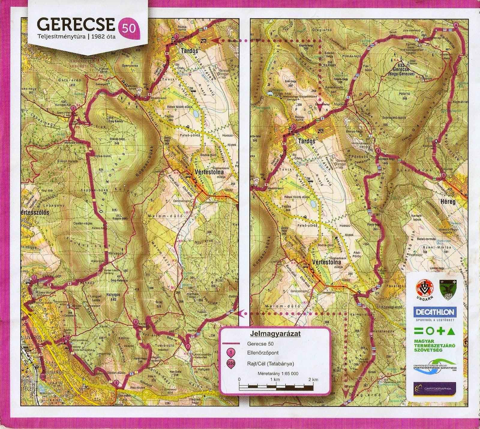 gerecse 50 térkép Itiner: Gerecse 50