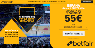 betfair supercuota Mundial Baloncesto España v Australia 13-9-2019