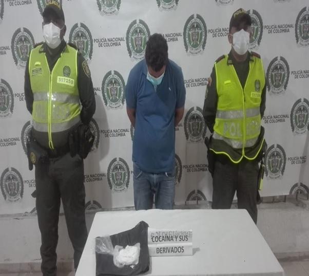 hoyennoticia.com, Le encontraron 172 gramos de base de coca