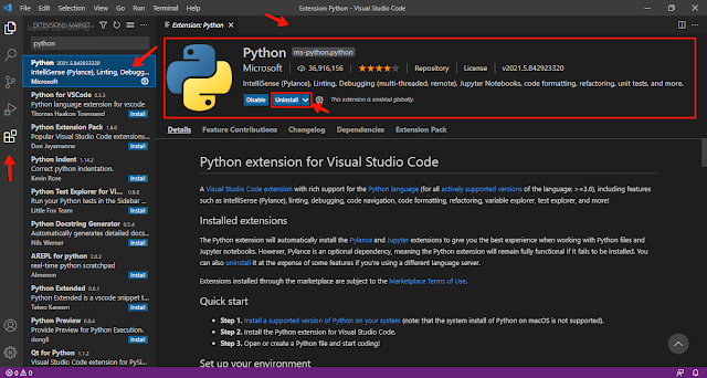 Download and install Python in Visual Studio Code(VS code) on Windows 10