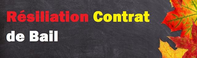 Résiliation contrat de bail