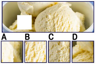 Figure: Have you bean dying for some vanilla bean ice cream? Choose the right square.