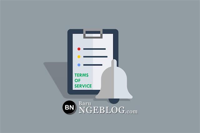 Cara Mudah dan Cepat Membuat Terms of Service (TOS) di Blog Secara Online