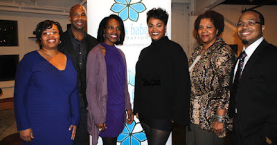 Jill Scott with scholarship recipients of her Blues Babe Foundation program