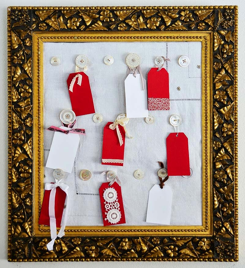 Scrapbook tag frame project by Jeanne Selep