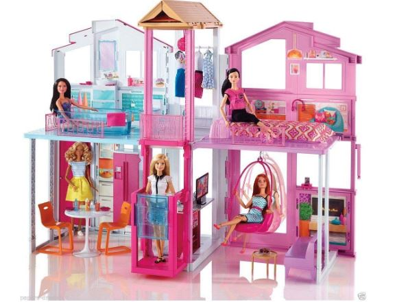 MOM N BABY RETAIL PRIVATE LIMITED Barbie 3 Floors Happy Doll House Town with Lot's of Fun