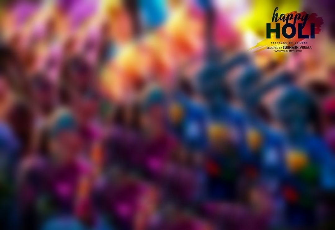 Happy Holi FREE Background PNG Download - CB Background