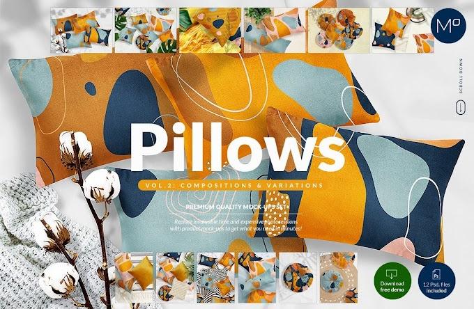 CreativeMarket Pillows vol.2- Compositions Mock-ups 5248045
