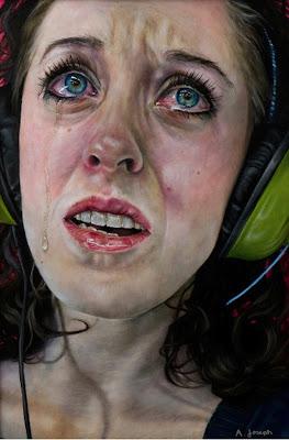 Pintura hiperrealista de Amanda Joseph.