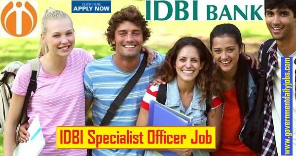 IDBI Bank Job 2019