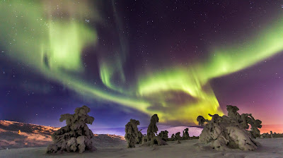 Las auroras boreales en Finlandia