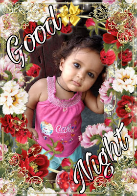 cute baby good night image pics Download