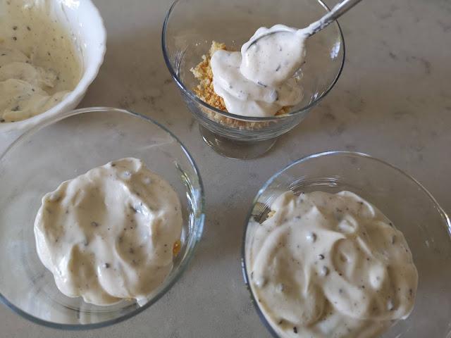 Una capa de yogur