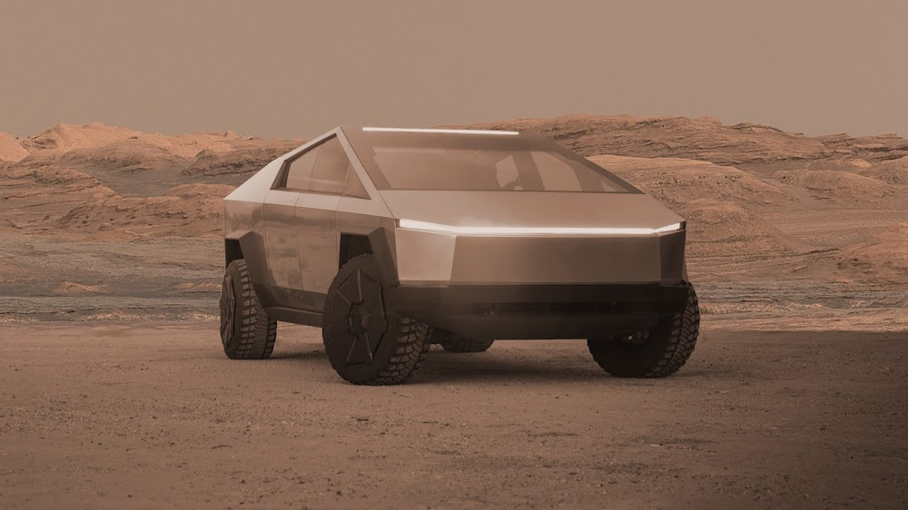 Tesla Cybertruck on Mars