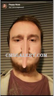 Filter hidung panjang, Cara mendapatkan Filter Floppy Nose instagram untuk mendapat efek Filter hidung panjang di instagram