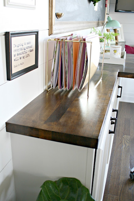How to finish butcher block counters