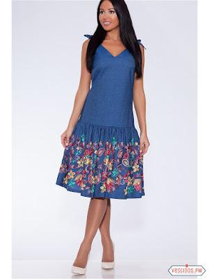 vestidos color azul de dia
