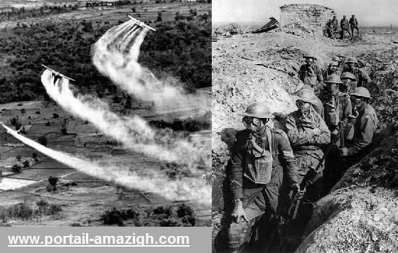 قصف الريف بالغازات السامة والاسلحة الكيماوية
