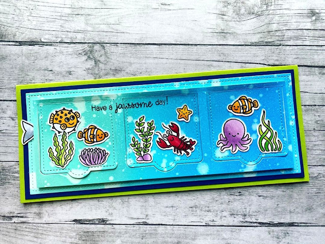 Sunny Studio Stamps: Best Fishes Sea You Soon Customer Card by Lisa Anderson