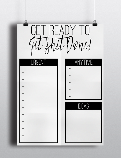 Get ready to get shit done free A4 to do list printable