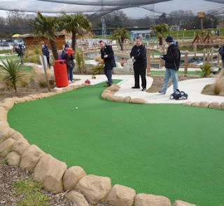 Playing the Dragon Quest Adventure Golf course at World of Golf Croydon in 2013