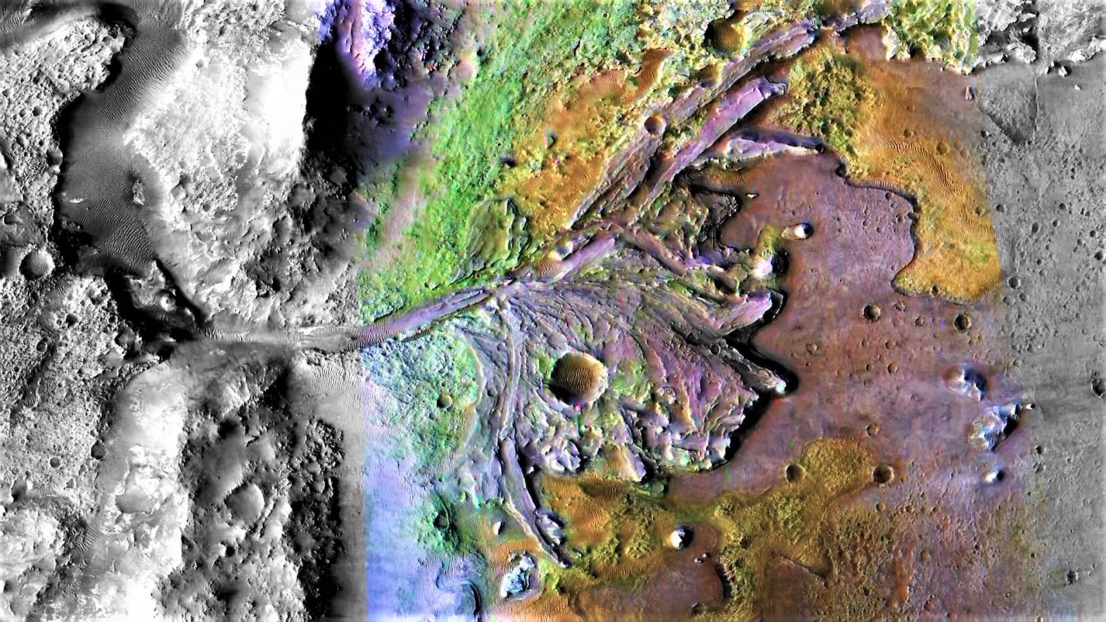 Mars 2020 Landing Site  Jezero Crater.