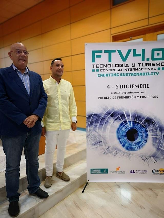 Cabildo  Fuerteventura invita a participar en cuarta edición del Congreso Internacional 4.0 de Nuevas Tecnologías y Turismo  los 4 y 5 de diciembre