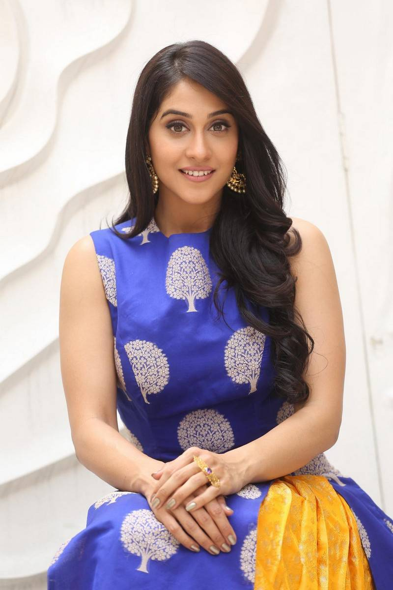 Regina Cassandra Pics From Shourya Movie In Blue Dress