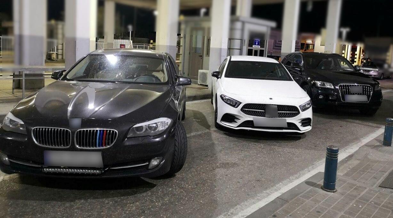 Θράκη: Πήγαιναν Τουρκία με κλεμμένα πολυτελή αυτοκίνητα - ΦΩΤΟ