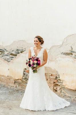 Julie Pace in her wedding dress