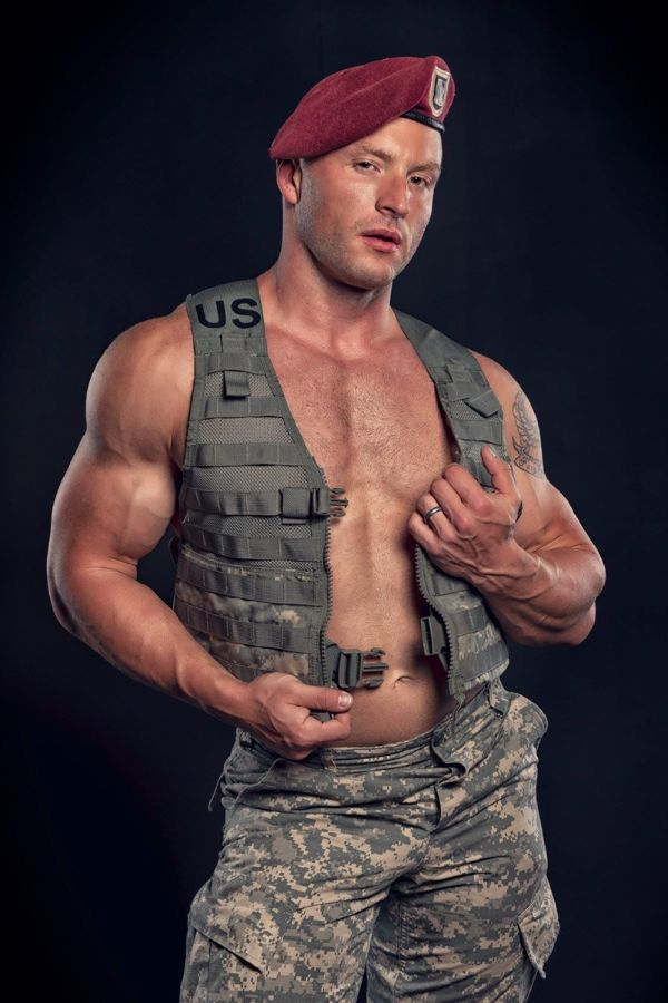 Men in Uniform Mike Clarke Shirtless by Jim Johnson