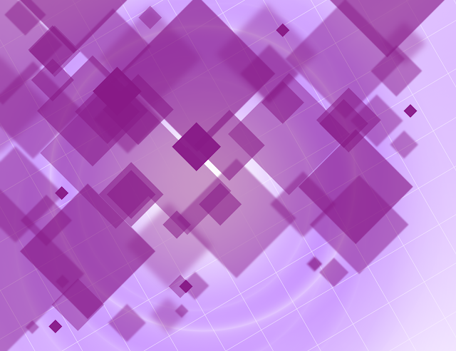 purple square background