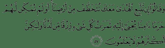 Surat Al Qashash ayat 57