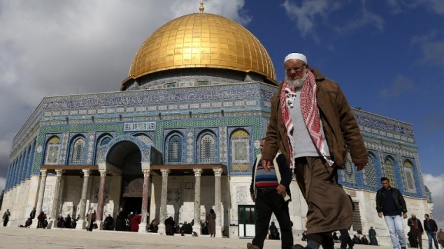 La invasora mezquita musulmana en Jerusalém