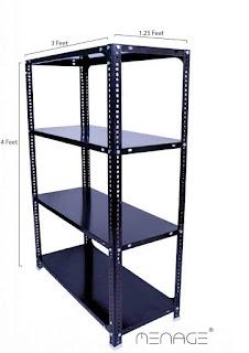 s k modern art Metal Slotted Angle Rack