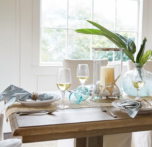 Natural Hemp Table Runner for Coastal Living