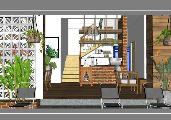 cận cảnh một góc nhỏ quán cà phê vỉa hè Tit Cooffe