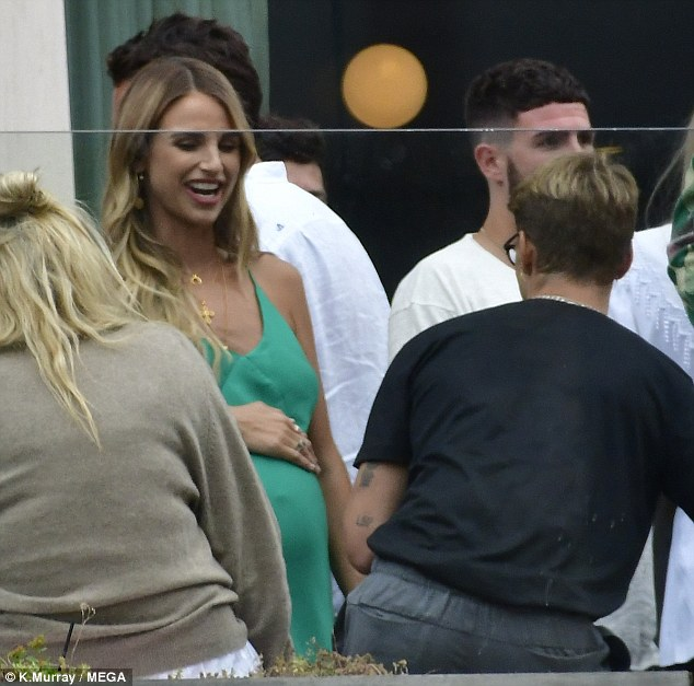 Spencer Matthews pictured grabbing his wife's butt during his 30th birthday bash