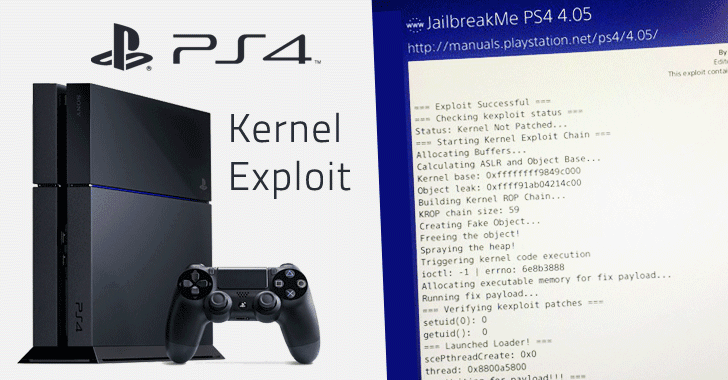 Kernel Exploit for Sony PS4 Firmware 4 05 Released