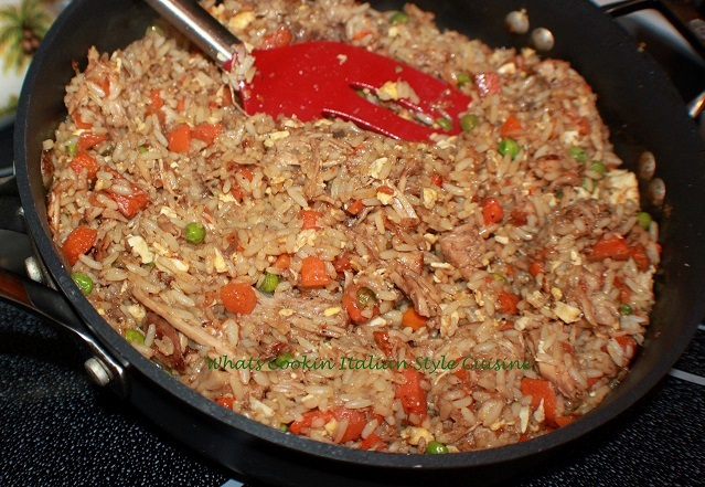 this is a one pan of fried rice