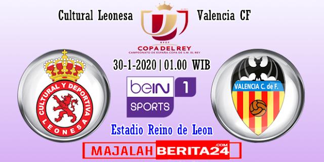 Prediksi Cultural Leonesa vs Valencia — 30 Januari 2020