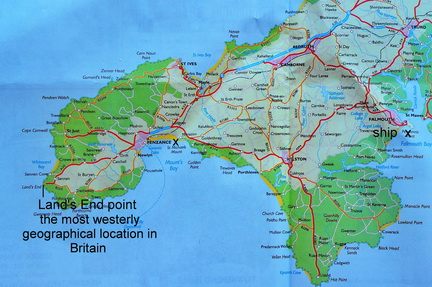 Lands End England Map.Traveling Wayne S World England Falmouth To Land S End