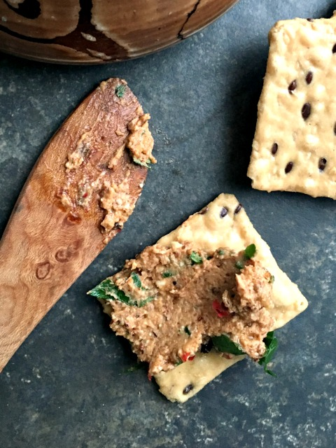Healthy Feta Walnut Dip has loads of texture and the delicious flavours of creamy goat's milk feta and walnuts.