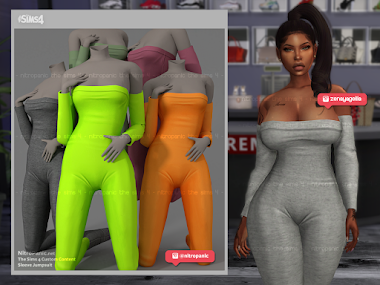 Sleeve Jumpsuit for The Sims 4