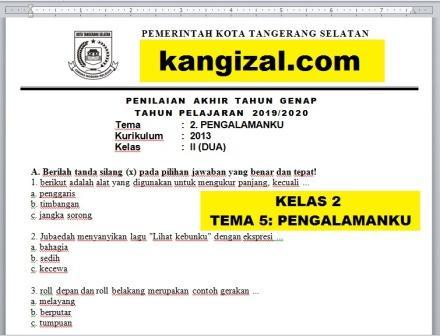 Soal UAS / UKK / PAS / PAT Kelas 2 Tema 5 Pengalamanku Terbaru 2019/2020/2021 kangizal.com kang izal ganteng