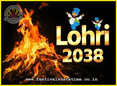 2038 Lohri Festival Date & Time, 2038 Lohri Calendar