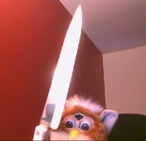 FURBY WITH A KNIFE