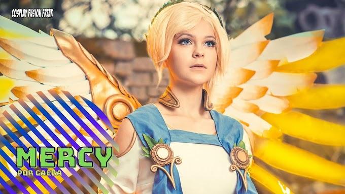 Gaera con su cosplay de Mercy
